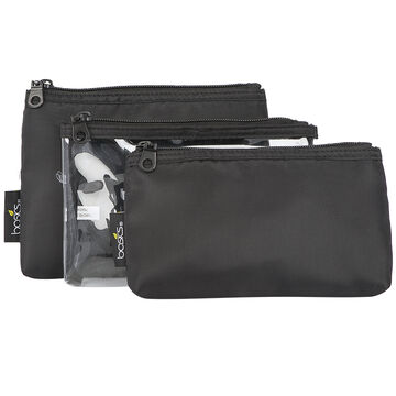 Basics Black Cosmetic Bag Set - M000053LDC