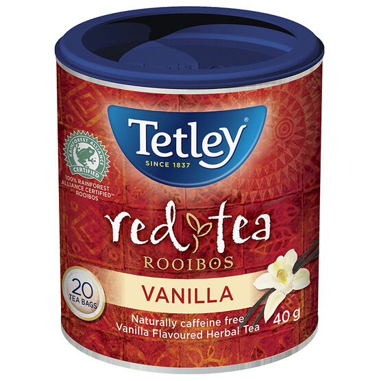 Tetley Herbal Rooibos Vanilla Tea - 20's