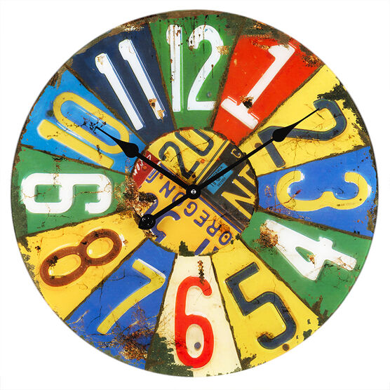 London Drugs Glass Wall Clock - Multi Colour