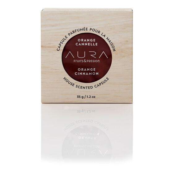 Fruit & Passion Aura House Scented Wax Capsule - Orange Cinnamon