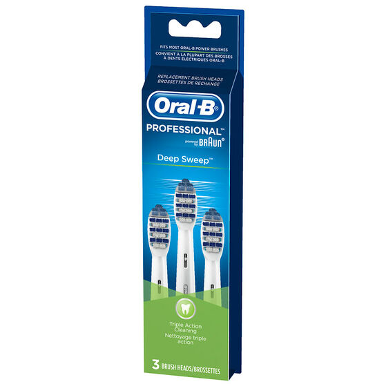 Oral-B Professional Deep Sweep Replacement Brush Heads - 3's