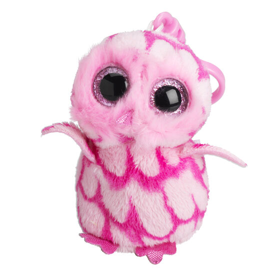Ty Beanie Boos Clip - Pinky the Pink Barn Owl