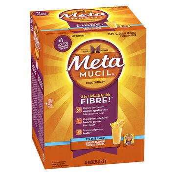 Metamucil 3in1 MultiHealth Fibre Singles Smooth - Orange - 44's