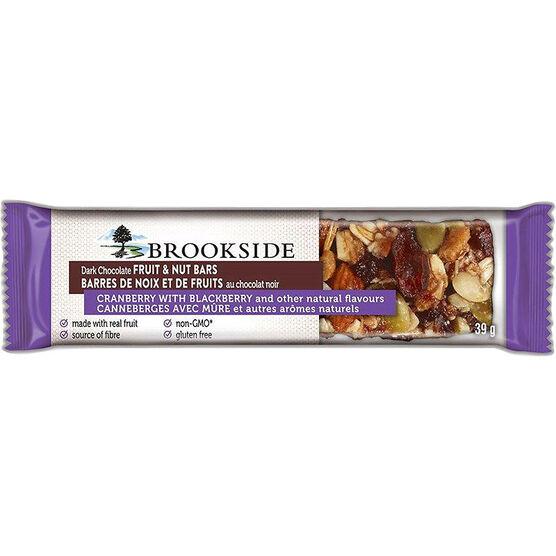 Brookside Fruit & Nut Bar - Cranberry and Blackberry - 39g