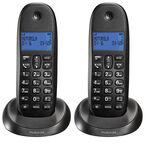 Motorola 2 Handset Cordless Phone - Black - C1002LX