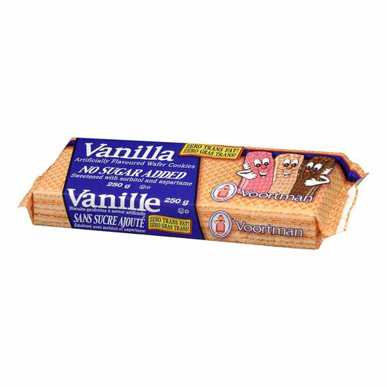 Voortman No Sugar Added Vanilla Wafers - 250 g