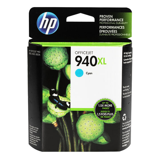 HP 940XL Officejet Ink Cartridge - Cyan - C4907AC140