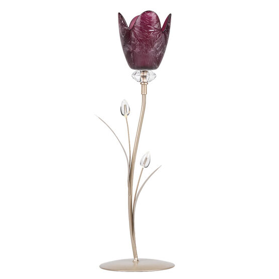 London Drugs Glass Candle Holder - 1 Purple Tulip