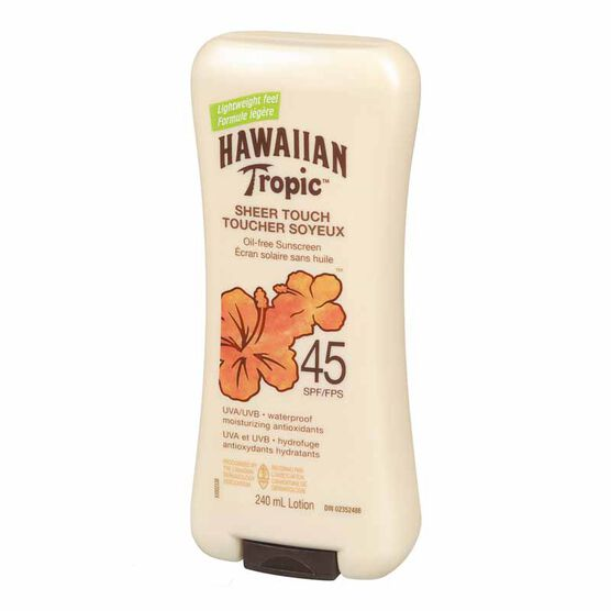 Hawaiian Tropic Sheer Touch Sunscreen Lotion - SPF 45 - 240ml