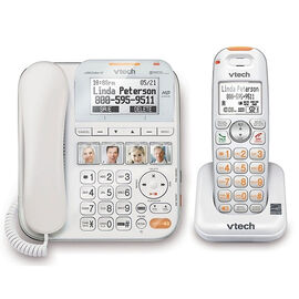 VTech CareLine Cordless/Corded Phone - White - SN6196RB - Factory Reconditioned