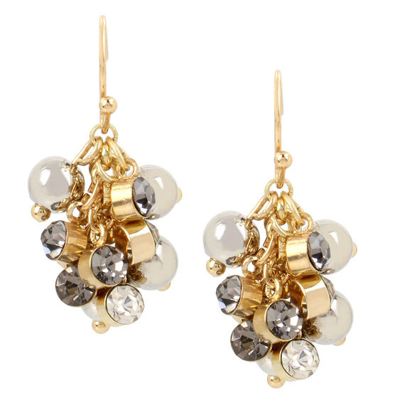 Haskell Cluster Earrings - Grey/Gold