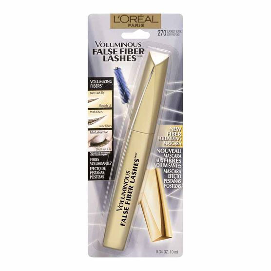 L'Oreal Voluminous False Fiber Lashes Mascara - Blackest Black