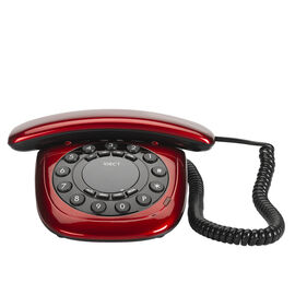 Binatone Corded Desk Phone - Red - CARRERACBR