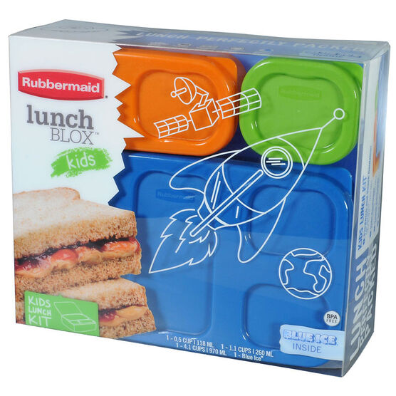 Rubbermaid Lunchblox Flat Kids Set - Boys