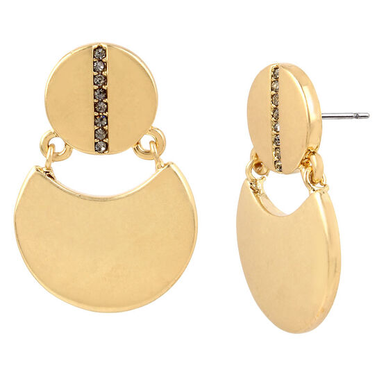 Kenneth Cole Disc Drop Earrings - Gold