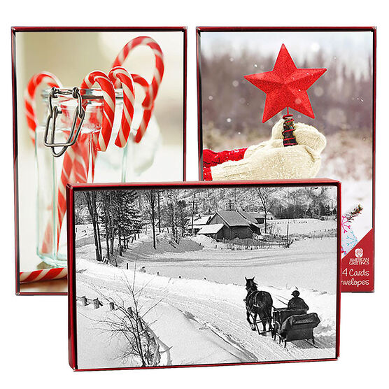 American Greetings Christmas Cards - Photo Images - 14 count - Assorted