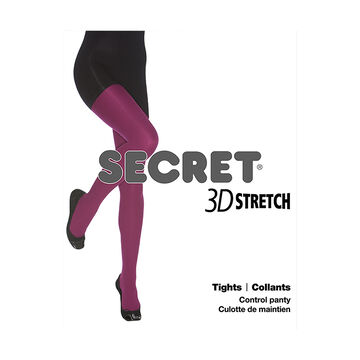 Secret 3D Stretch Tights - D - Black