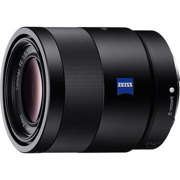 Sony 55mm F1.8 CZ Full Frame E-Mount Lens - SEL55F18Z