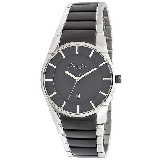 Kenneth Cole Slim Watch - Black/Silver - 10011594