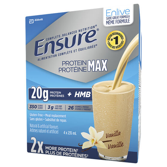 Ensure Enlive Vanilla - 4 x 235ml