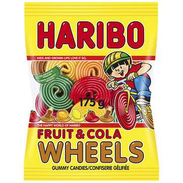 Haribo Fruit &  Cola Wheels Candy - 175g