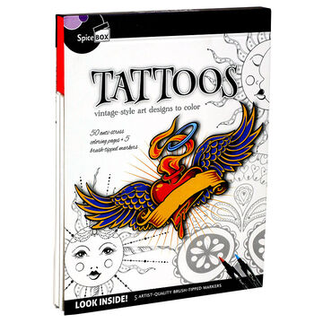 Spicebox Tattoos Colouring Book