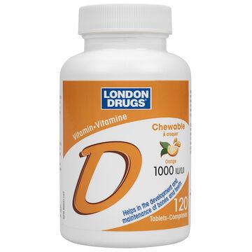 London Drugs Vitamin D Chewable - 1000iu - 120's