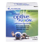 Refresh Optive Fusion Lubricant Eye Drops - 2 x 10ml
