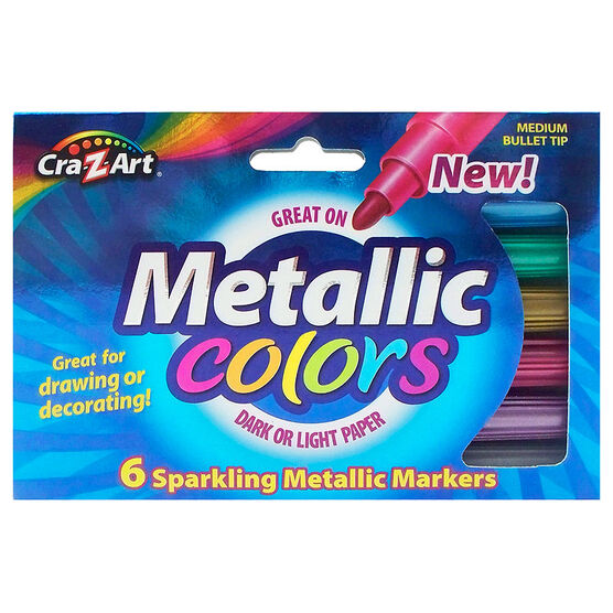 Cra-Z-Art Mini Metallic Markers - 6's