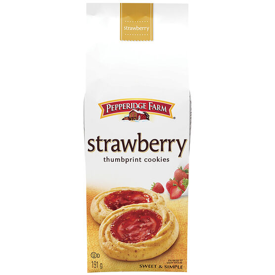 Pepperidge Farms Thumbprint Cookies - Strawberry - 191g