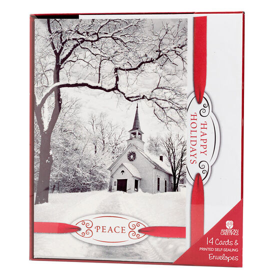 Plus Mark Premium Christmas Cards - Black & White -  14 count - Assorted