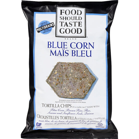Food Should Taste Good Tortilla Chips - Blue Corn - 156g