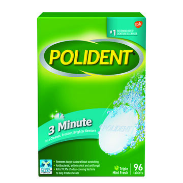 Polident 3 Minute Denture Cleanser Tablets - 96's