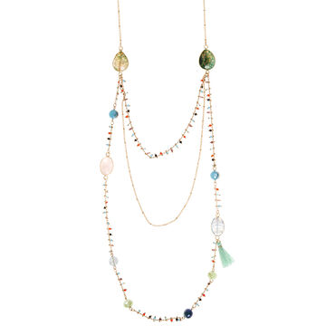 Lonna & Lilly 42-inch Multi Row Necklace - Green