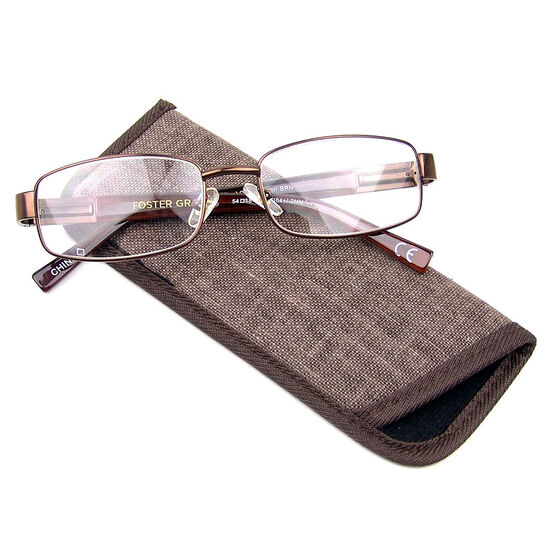 Foster Grant Jason Reading Glasses - Brown - 3.25