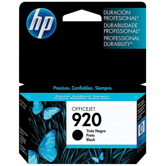 HP 920 Officejet Ink Cartridge - Black  - CD971AC#140