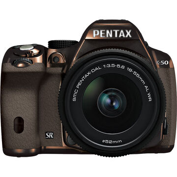 Pentax K-50 w/18-55 WR Kit - Metal Brown Body