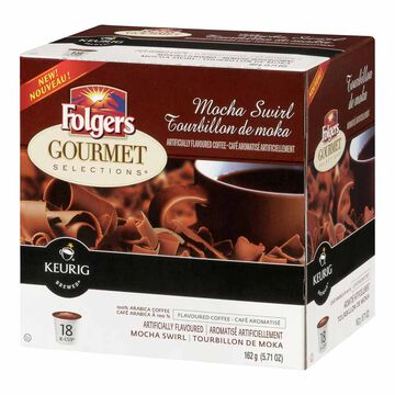 K-Cup Folgers Coffee Pods - Mocha Swirl - 18's