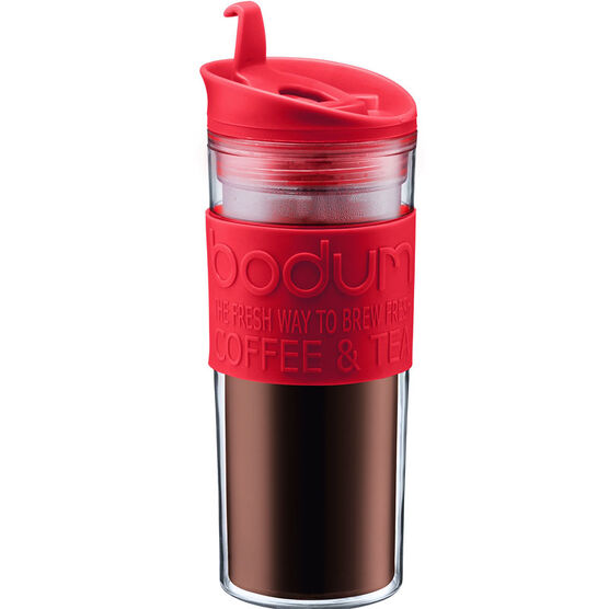 Bodum Travel Press Coffee Maker - Red - 15oz
