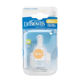 Dr Brown's Natural Flow Nipples Level 3 - 2 pack