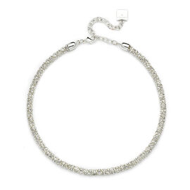 Anne Klein Pave Tube Necklace - Silver