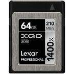 Lexar Professional 1400x XQD 2.0 Card - 64GB -LXQD32GCRBNA1401