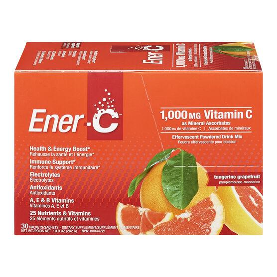 Ener-C Vitamin C Powered Drink Mix - 1000mg - Tangerine Grapefruit - 30's