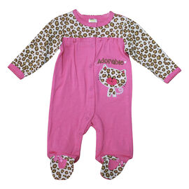 Baby Mode Adorable Leopard Print Coverall - 6698 - Assorted