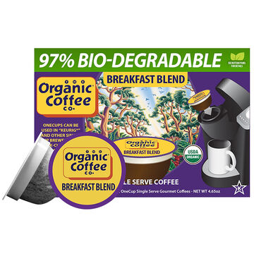 Organic Coffee Co. Coffee Pods - Breakfast Blend - 12's