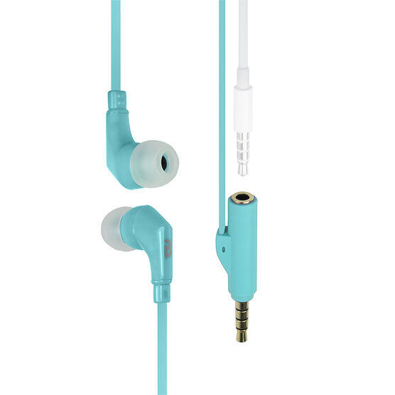 Logiix tuneFREQS Share In-Ear Headphone with Built-In Splitter - Turquoise - LGX12015