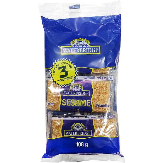 Waterbridge Sesame Snacks - 36g/3 pack