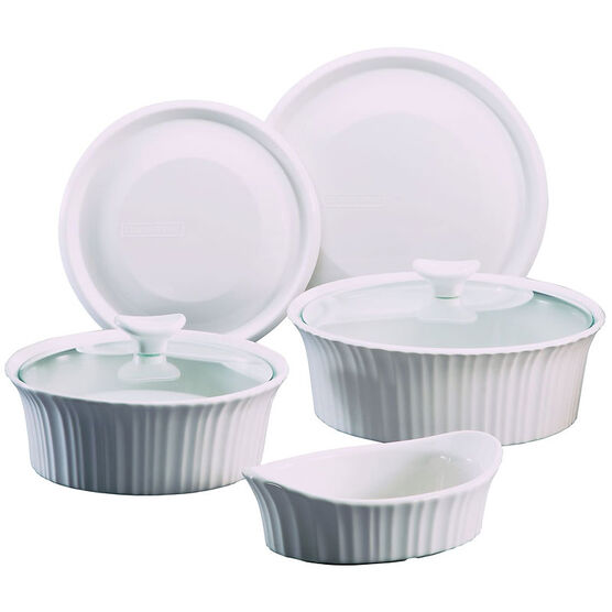Corningware Set - French White - 7 piece