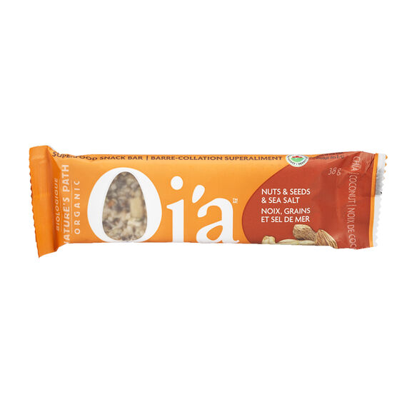 Nature's Path Organic Qi'a Bar - Nuts Seeds & Sea Salt - 38g