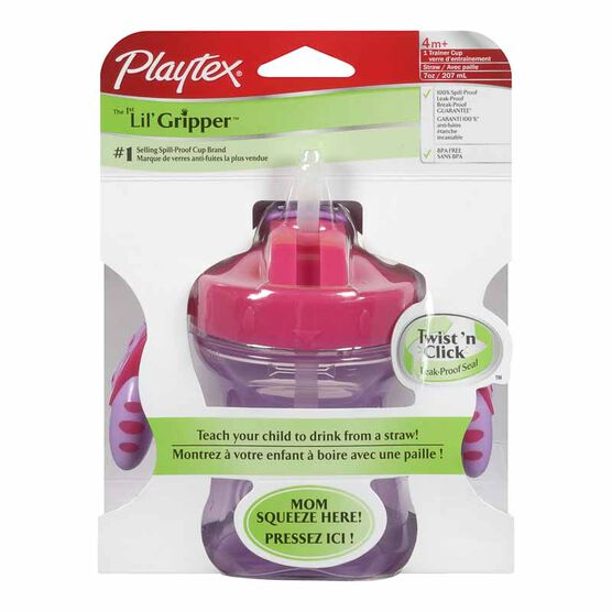 Playtex The First Lil Gripper Twist'n Click Straw Trainer Cup - 1 pack